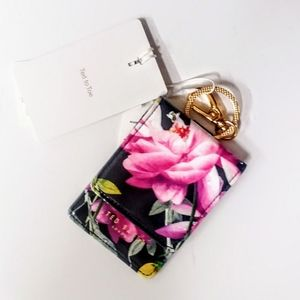 Ted Baker Card Key Wallet NWT FLORAL